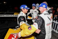 Antonio Garcia, Mike Rockenfeller en Jan Magnussen - Corvette Racing