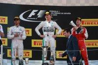 Lewis Hamilton, Nico Rosberg en Sebastian Vettel