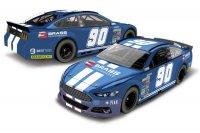 Schets Brass Racing Ford Mustang van Marc Goossens voor NASCAR Finals 2016