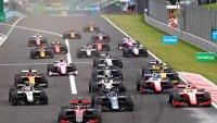 Start 2020 F2 Hungaroring Feature race