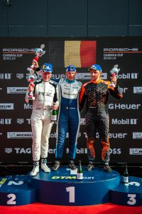 Am-Podium Porsche Carrera Cup Benelux race 2 Assen