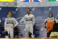 Podium GP Bahrein 2014