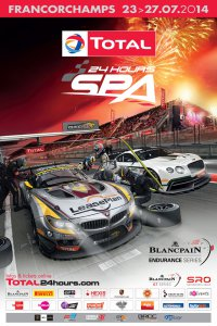 Affiche 24 Hours of Spa 2014