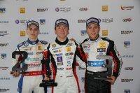 Podium race 1: Hughes-Sasahara-Hubert