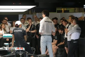 Teammeeting Mercedes AMG Petronas F1 Team