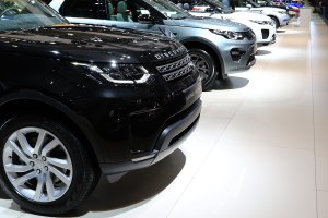 Land Rover stand