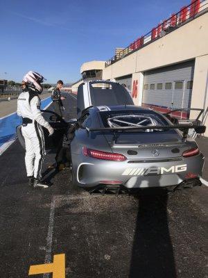 Mercedes AMG GT4 - Nicolas Vandierendonck test Paul Ricard