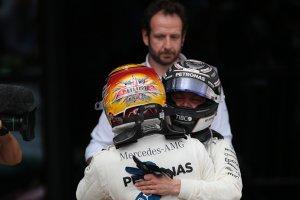 Lewis Hamilton met Valtteri Bottas
