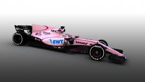 Force India VJM10 in het roze