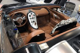 Interieur van de Bugatti Veyron