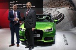 Patrick Danau (directeur Audi Brussels) bij de nieuwe Audi A1