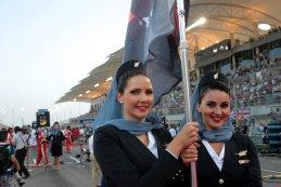 grid girls GP Bahrein 2015