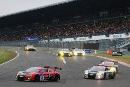 WRT Audi's tijdens de 24 uren van de Nürburgring 2015