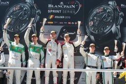 podium Qualifying race Blancpain Sprint Series Zolder 2015
