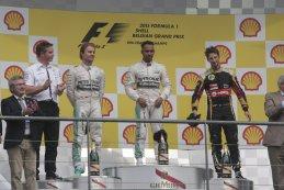 F1 Podium 2015 Belgian Grand Prix