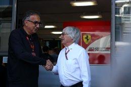 Sergio Marchionne-president Ferrari en Bernie Ecclestone