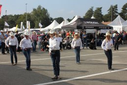 Line dancing NWES American Speed Festival 2015