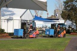 Opbouw paddock Melbourne