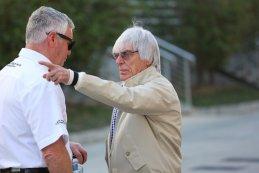 Derek Warwick & Bernie Ecclestone