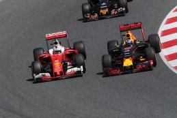 Sebastian Vettel  Daniele Ricciardo GP Spanje 2016