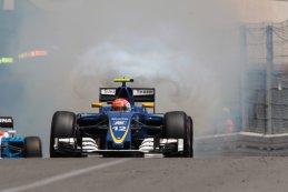 Felipe Nasr - Sauber F1 Team met opgeblazen motor