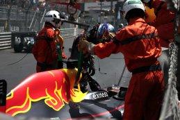 Max Verstappen na zijn crash