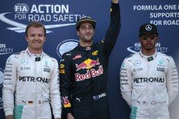 Nico Rosberg - Daniel Ricciardo - Lewis Hamilton - top 3 qualifying GP Monaco 2016