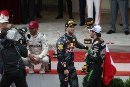 Lewis Hamilton - Daniel Ricciardo - Sergio Pérez - top 3 Monaco GP 2016