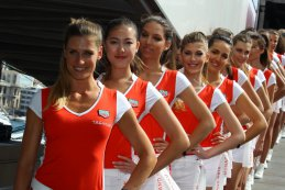grid girls GP Monaco 2016