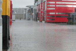 regen tijdens de F1 GP van Groot-Brittannië 2016