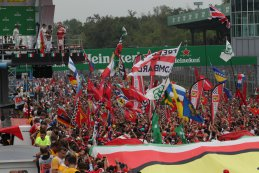 Publiek tijdens podiumceremonie F1 GP Italië 2016