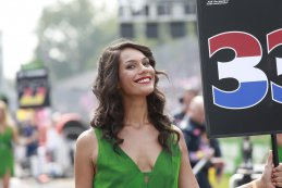 Grid Girl F1 GP Italië 2016