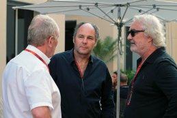 Helmut Marko, Gerhard Berger & Flavio Briatore