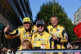 Frits van Eerd, Rubens Barrichello en Jan Lammers