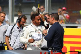 Interview Lewis Hamilton na zijn 68ste pole