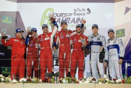 Podium GTE-klasse FIA WEC 6H Bahrein 2017