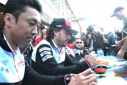 Kazuki Nakajima en Fernando Alonso