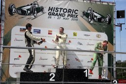Podium 2018 FIA Lurani Trophy for Formula Junior cars Race 1