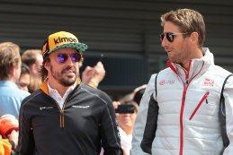 Fernando Alonso en Romain Grosjean