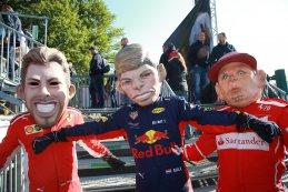 Poppen Sebastian Vettel, Max Verstappen en Kimi Räikkonen