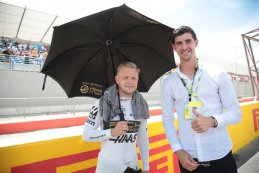 Kevin Magnussen en Thibaut Courtois