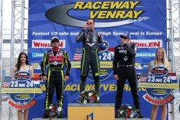 Podium na Elite 1 Race 2 Venray - Ander Vilarino - Anthony Kumpen - Romain Iannetta