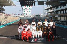 Groepsfoto F1-rijders Abu Dhabi 2017