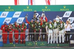 Podium GTE Am Le Mans 2017