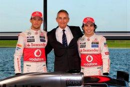 Jenson Button - Martin Whitmarsh - Sergio Perez