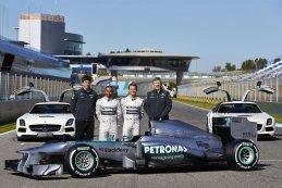 Toto Wolff - Lewis Hamilton - Nico Rosberg - Ross Brawn