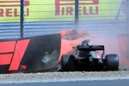 Crash Brendon Hartley - Toro Rosso