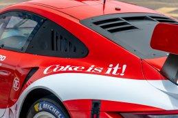 Porsche in Coca-Cola livery
