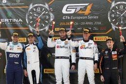 Podium GT4 Belgium Cup Zolder Race 1
