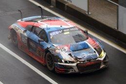 Dries Vanthoor kon de beschadigde Audi nog terugbrengen naar de pits